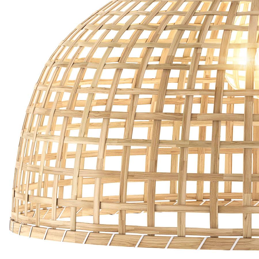 GOTTORP Klosz lampy wiszącej - bambus - Ikea royalty-free 3d model - Preview no. 2