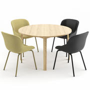 HYG Chair + Slice Table por Normann Copenhagen 3d model