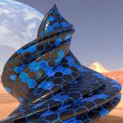 Arquitectura alienígena modelo 3d