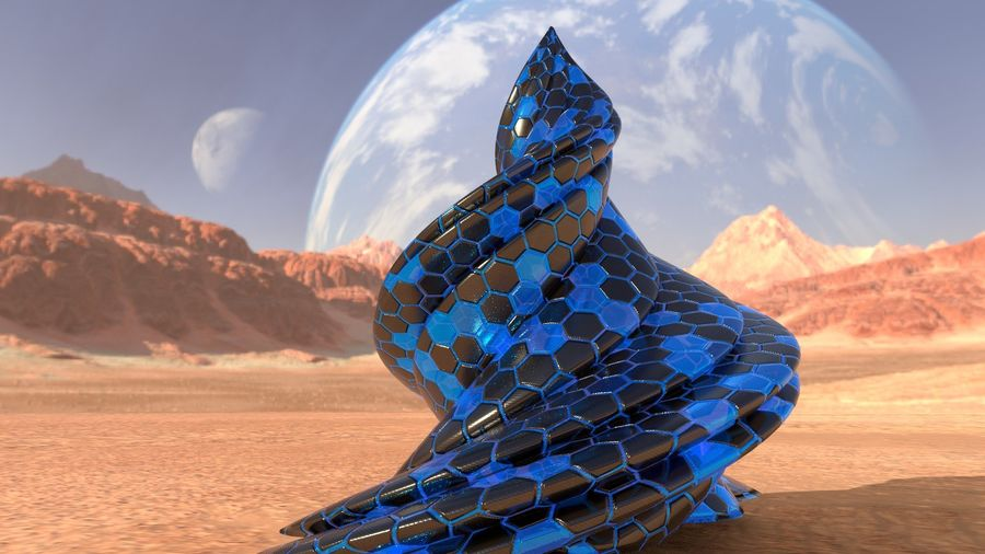 Alien Architecture royalty-free 3d model - Preview no. 3