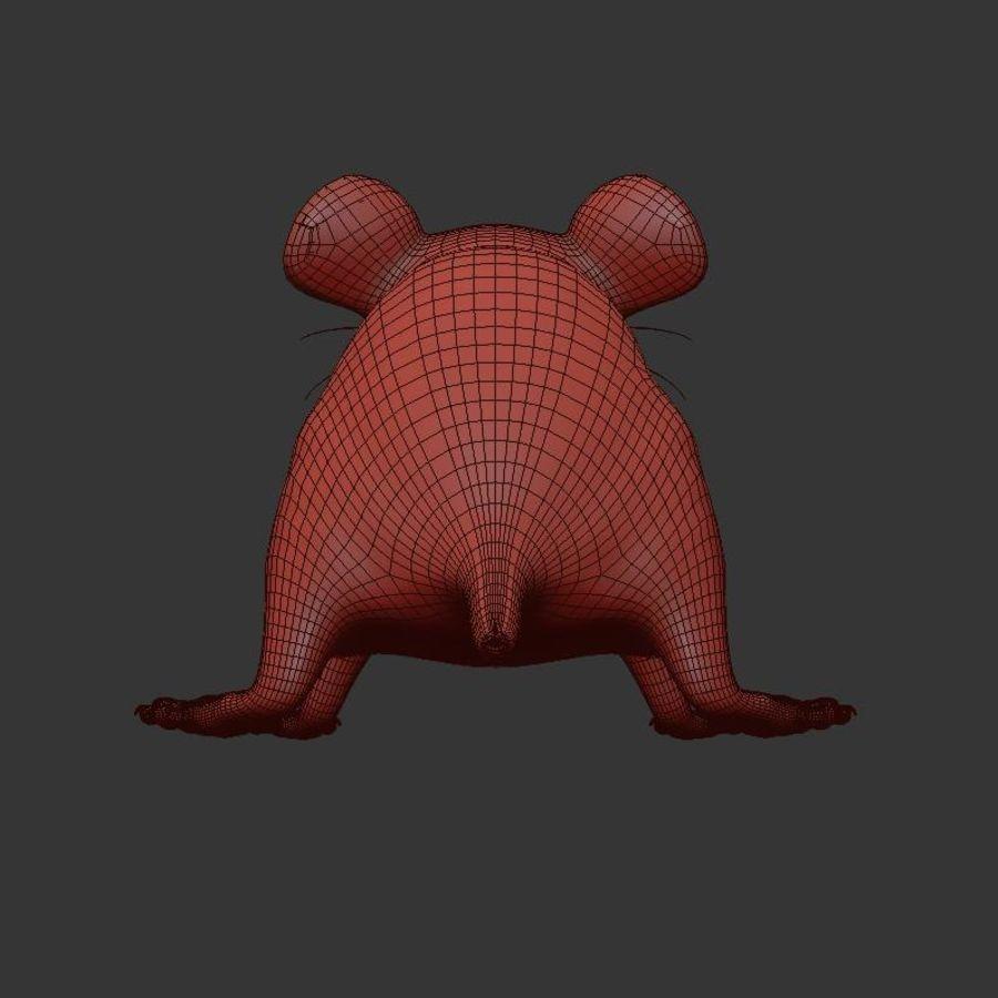 Животная крыса мышь royalty-free 3d model - Preview no. 14