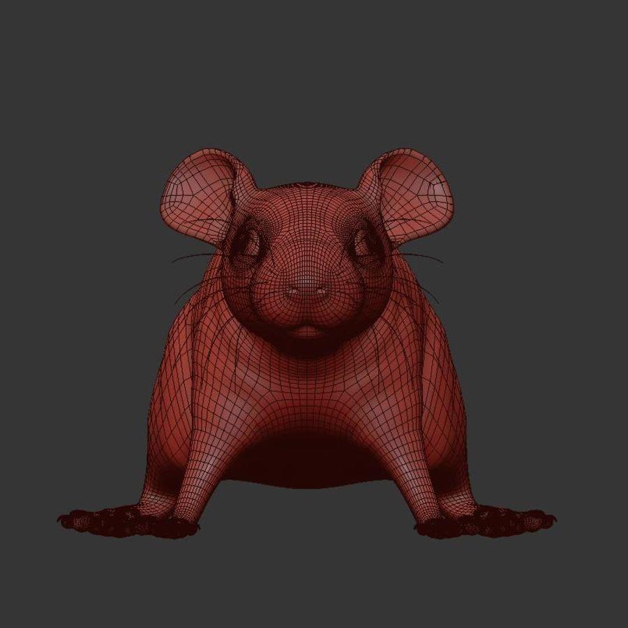 Животная крыса мышь royalty-free 3d model - Preview no. 16