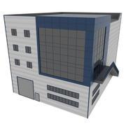 Factory Building, Composite Panel Facade 3d model