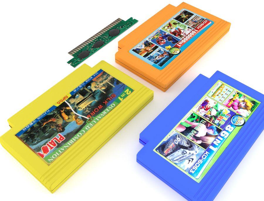 Cartridges for Dendy 8 bit royalty-free 3d model - Preview no. 4
