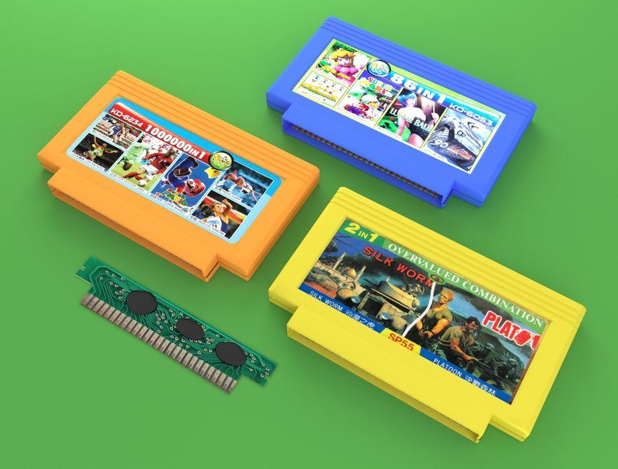 Cartridges for Dendy 8 bit royalty-free 3d model - Preview no. 6