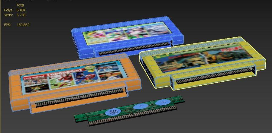 Cartridges for Dendy 8 bit royalty-free 3d model - Preview no. 9