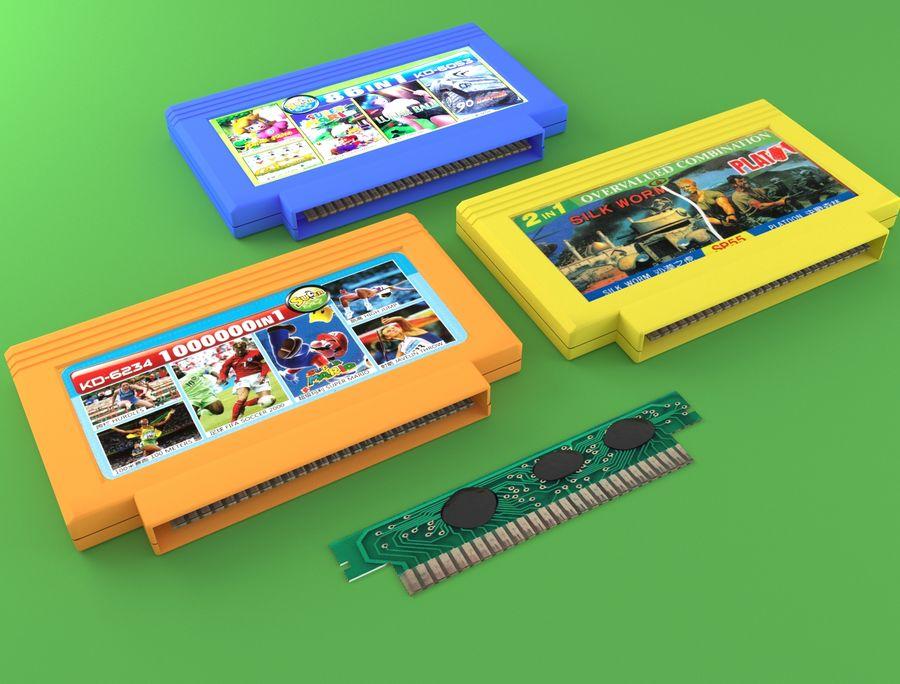 Cartridges for Dendy 8 bit royalty-free 3d model - Preview no. 7