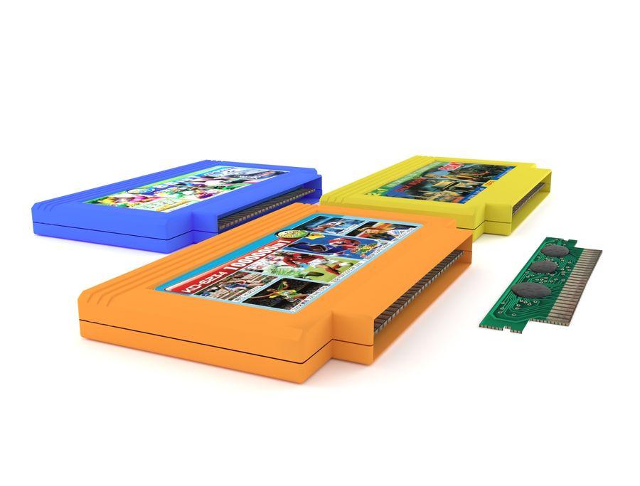 Cartridges for Dendy 8 bit royalty-free 3d model - Preview no. 3