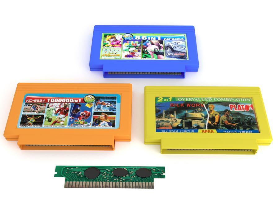 Cartridges for Dendy 8 bit royalty-free 3d model - Preview no. 2
