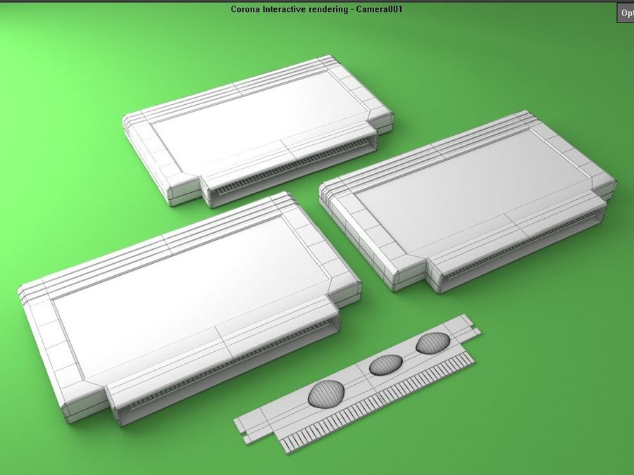 Cartridges for Dendy 8 bit royalty-free 3d model - Preview no. 8