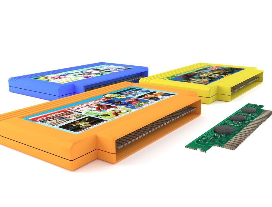 Cartridges for Dendy 8 bit royalty-free 3d model - Preview no. 1
