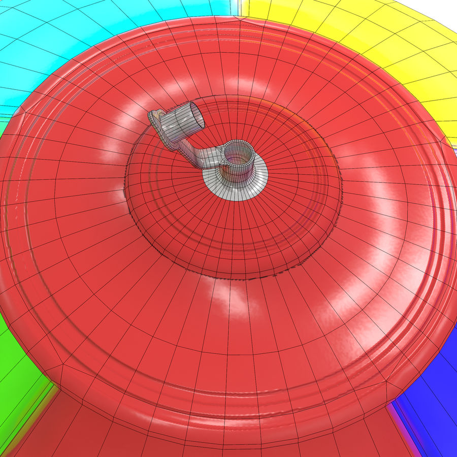 Inflatable beach ball royalty-free 3d model - Preview no. 9
