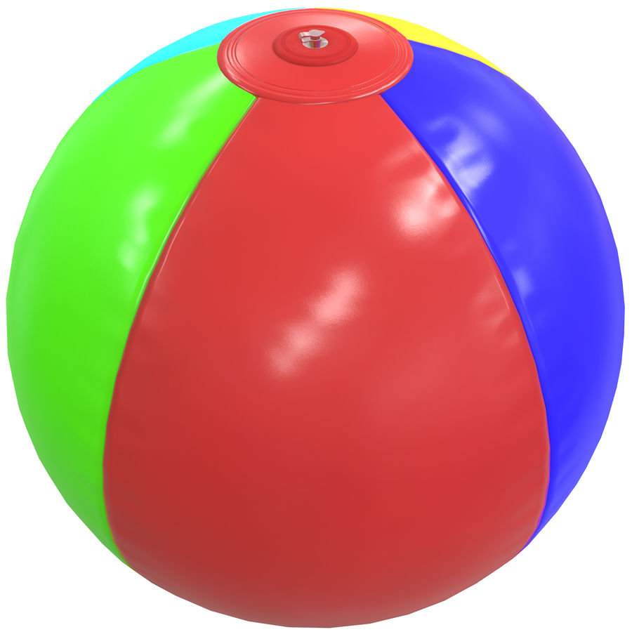 Inflatable beach ball royalty-free 3d model - Preview no. 2