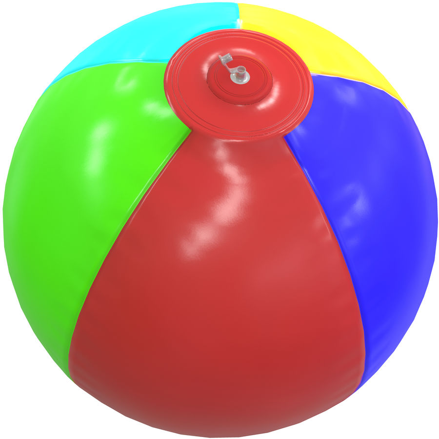 Inflatable beach ball royalty-free 3d model - Preview no. 14