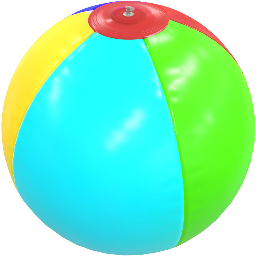 Inflatable beach ball royalty-free 3d model - Preview no. 6