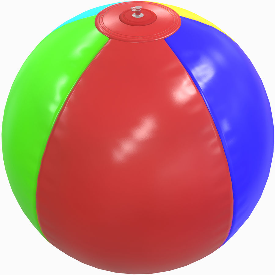 Inflatable beach ball royalty-free 3d model - Preview no. 1