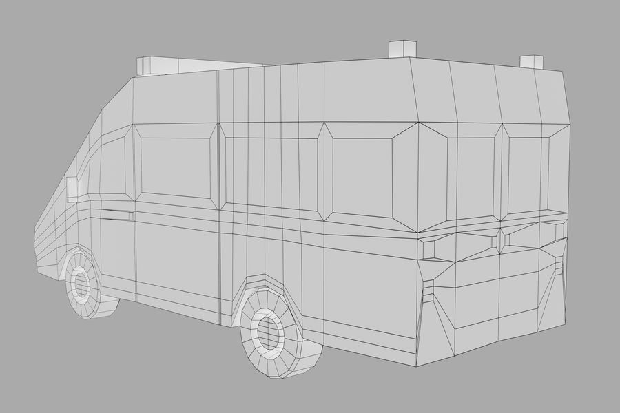 Ambulance royalty-free 3d model - Preview no. 16