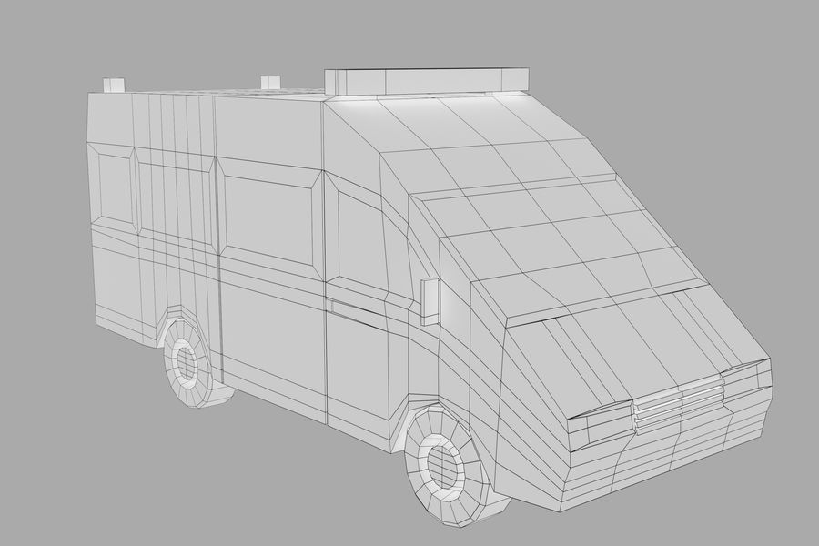 Ambulance royalty-free 3d model - Preview no. 15