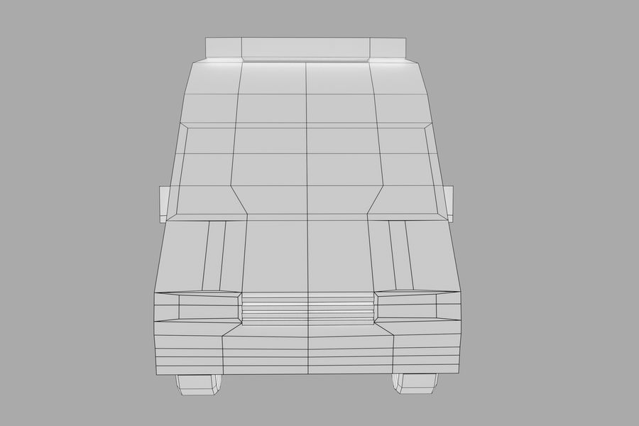 Ambulance royalty-free 3d model - Preview no. 14