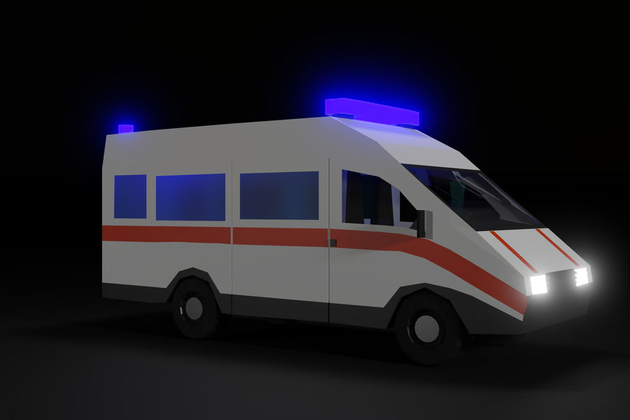 Ambulance royalty-free 3d model - Preview no. 11