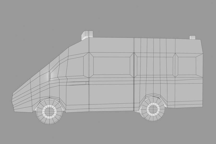 Ambulance royalty-free 3d model - Preview no. 12
