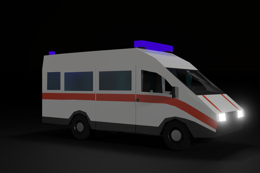 Ambulance royalty-free 3d model - Preview no. 10
