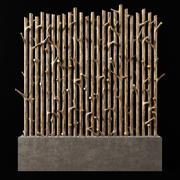 Macetero rama gruesa fundamento n3 modelo 3d