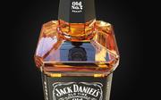 Jack Daniels Bottle Low-poly 3D model 3d model