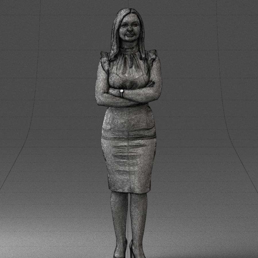 Piękna kobieta 1212 royalty-free 3d model - Preview no. 10