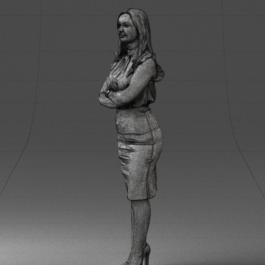 Piękna kobieta 1212 royalty-free 3d model - Preview no. 13