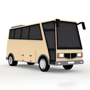Cartoon Coach Bus 3d model