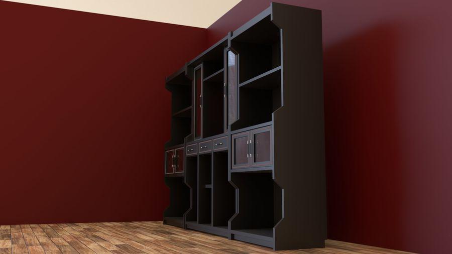 bookshelf royalty-free 3d model - Preview no. 3