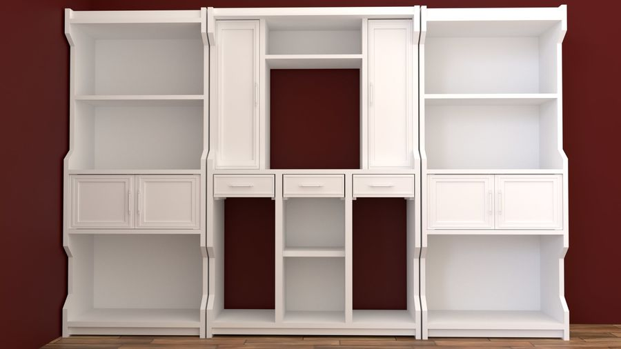 bookshelf royalty-free 3d model - Preview no. 5