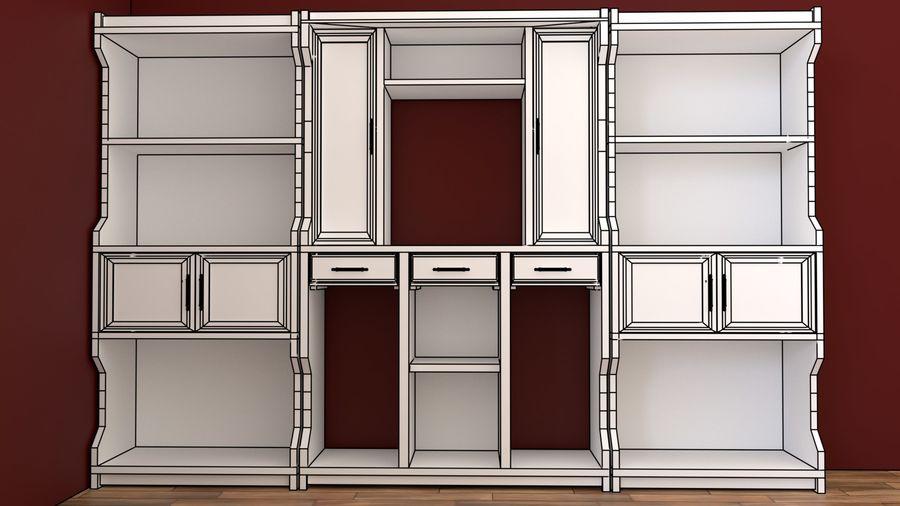 bookshelf royalty-free 3d model - Preview no. 6