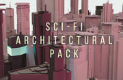 SCIFI Architectural Pack 3d model
