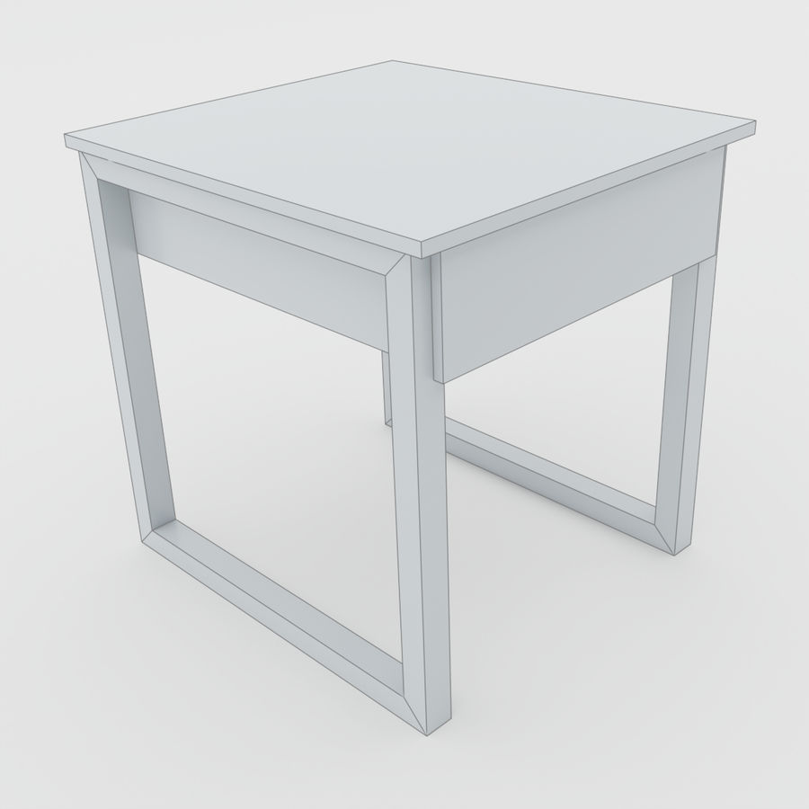 Scandinavian night stands royalty-free 3d model - Preview no. 12
