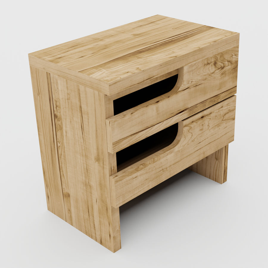 Scandinavian night stands royalty-free 3d model - Preview no. 15