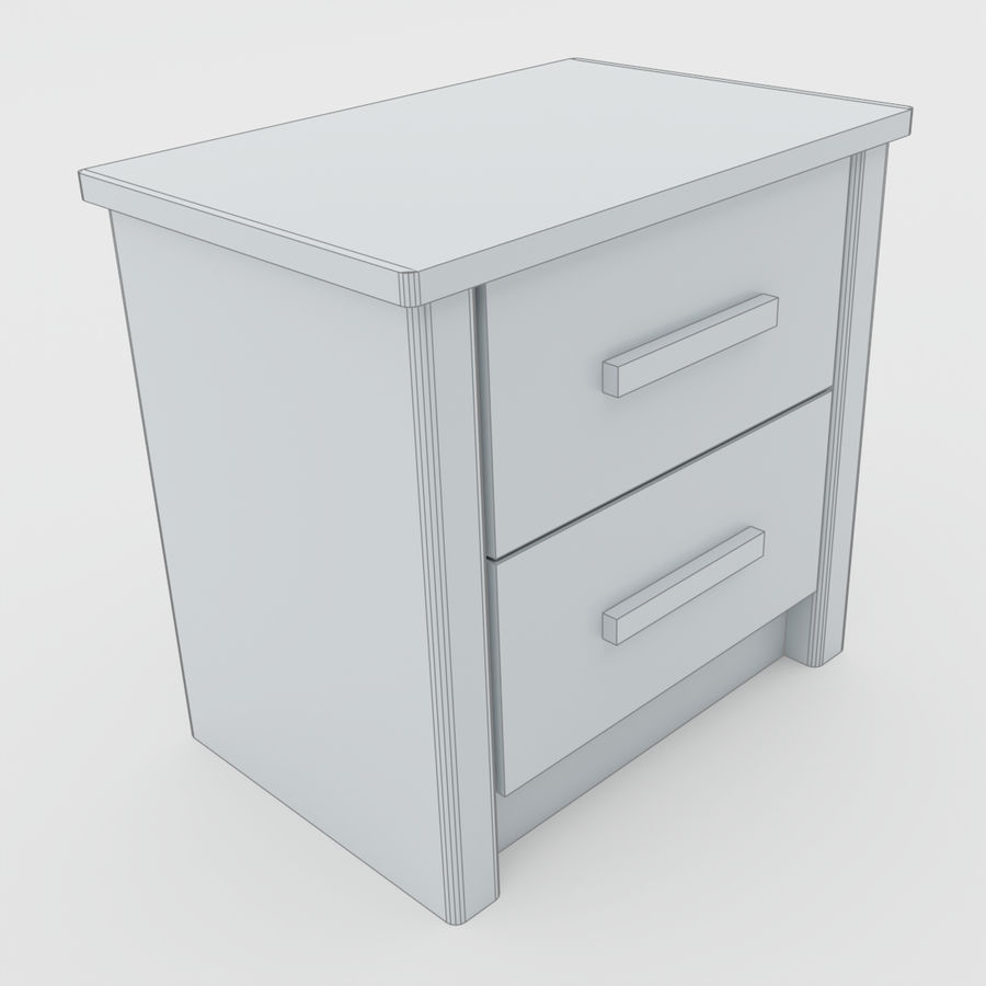 Scandinavian night stands royalty-free 3d model - Preview no. 10