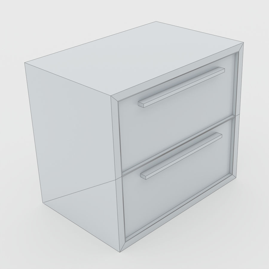 Scandinavian night stands royalty-free 3d model - Preview no. 14