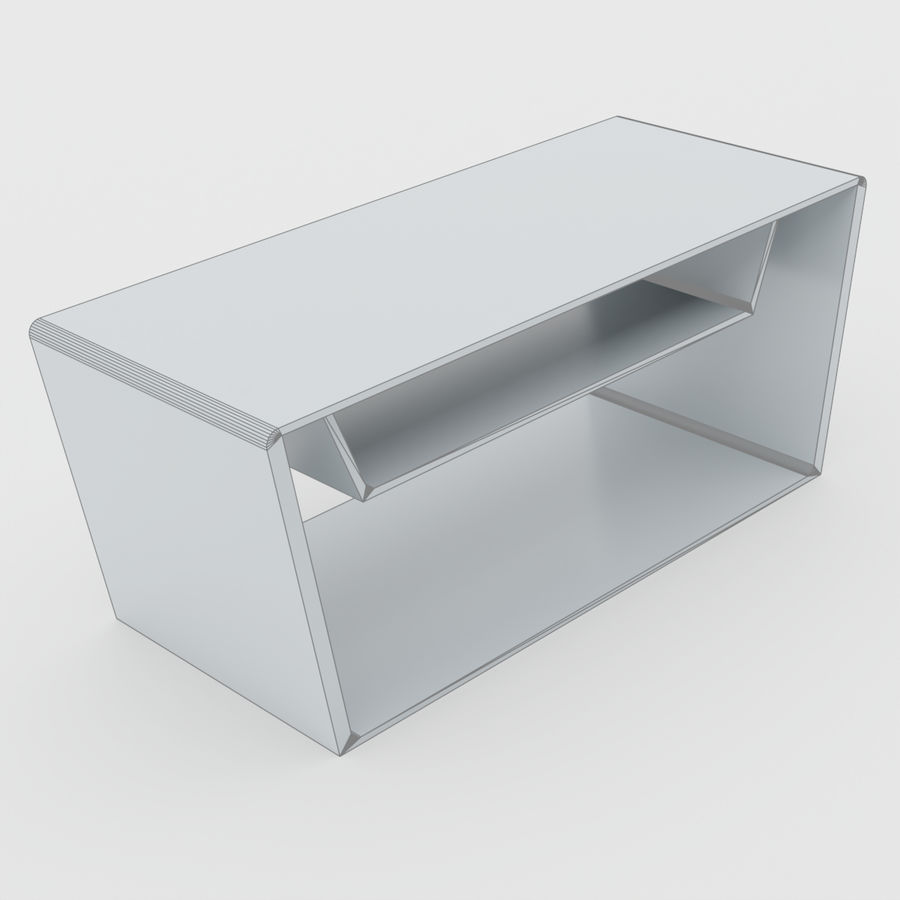Scandinavian night stands royalty-free 3d model - Preview no. 2
