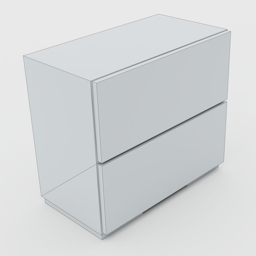 Scandinavian night stands royalty-free 3d model - Preview no. 8