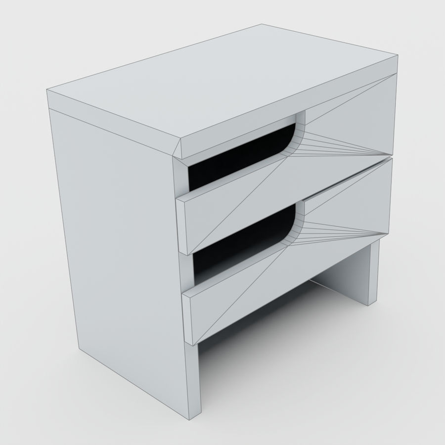 Scandinavian night stands royalty-free 3d model - Preview no. 16