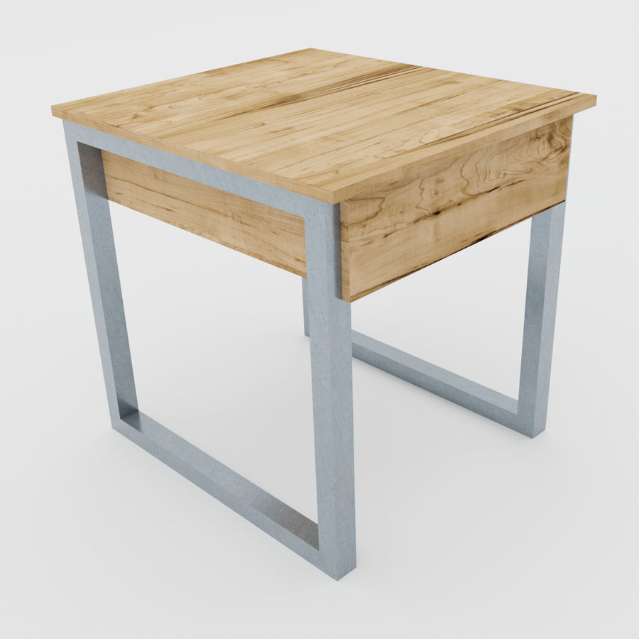 Scandinavian night stands royalty-free 3d model - Preview no. 11