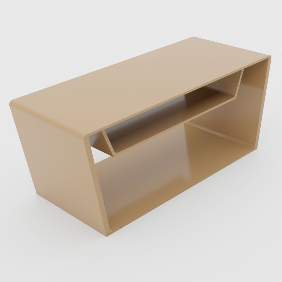 Scandinavian night stands royalty-free 3d model - Preview no. 1