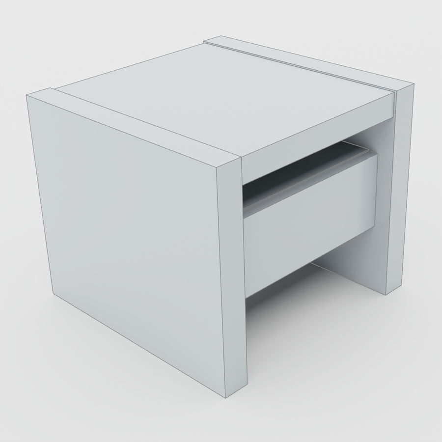 Scandinavian night stands royalty-free 3d model - Preview no. 4