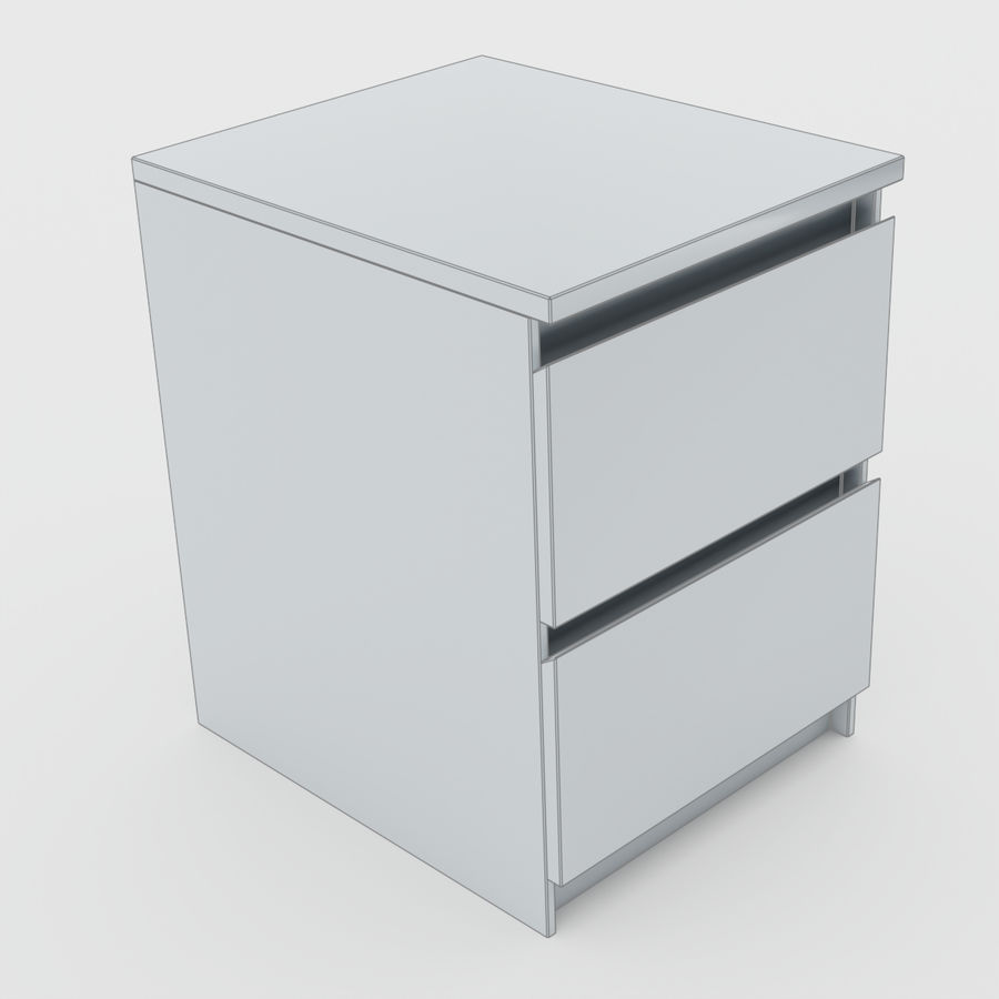 Scandinavian night stands royalty-free 3d model - Preview no. 18