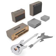 Музыкальные инструменты 3d model