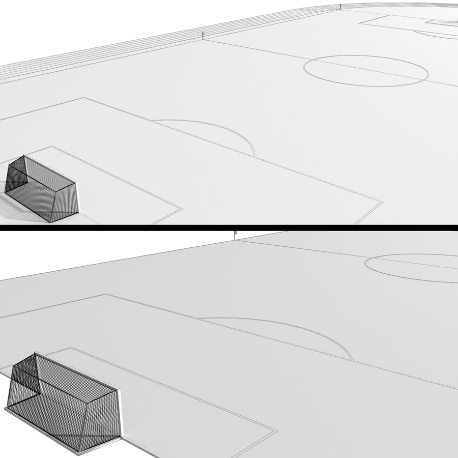 Soccer Field / Football Stadium royalty-free 3d model - Preview no. 6