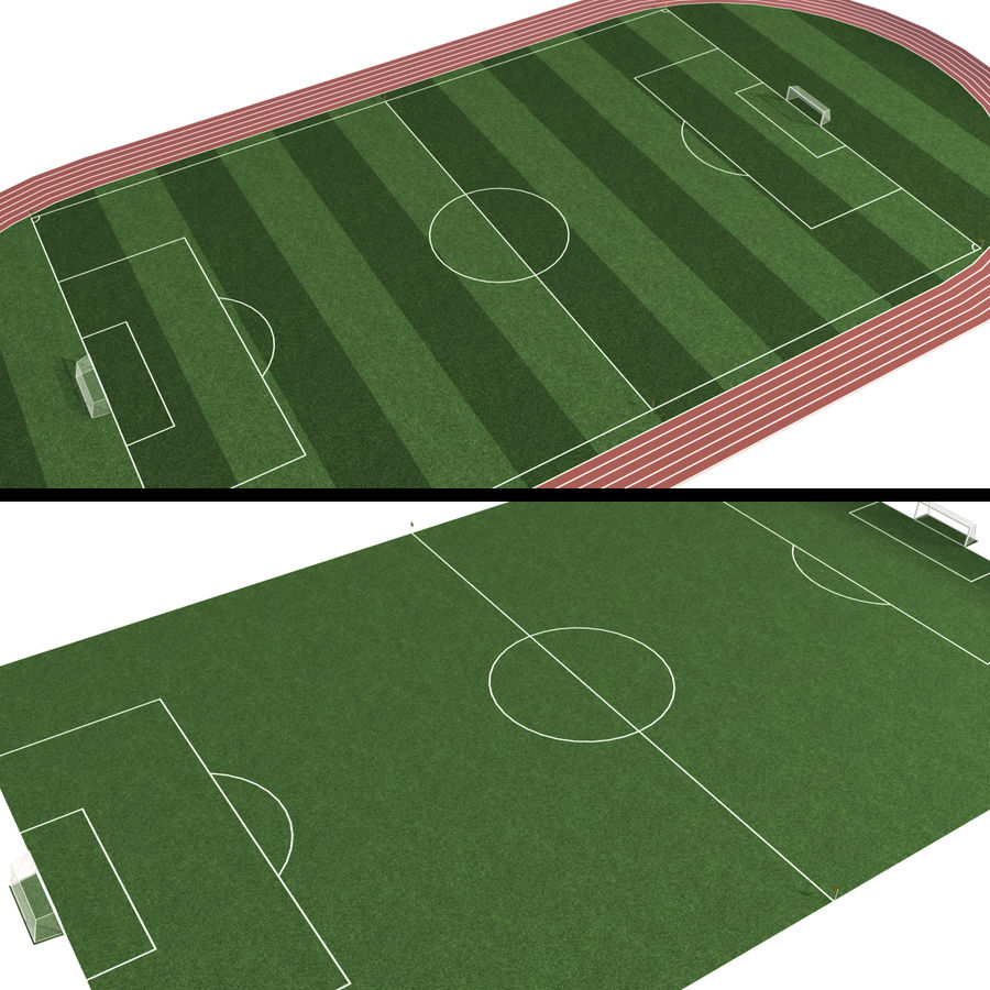 Soccer Field / Football Stadium royalty-free 3d model - Preview no. 3