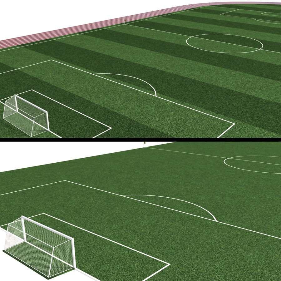Soccer Field / Football Stadium royalty-free 3d model - Preview no. 5